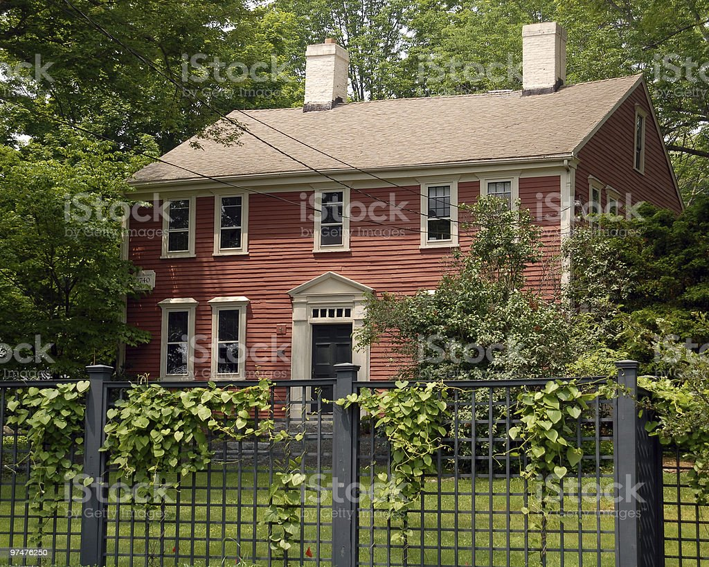 New England Colonial House from 1740 stock photo