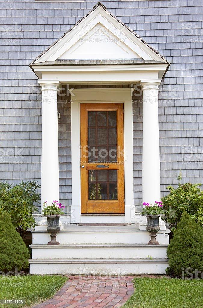 New England Doorway royalty-free stock photo