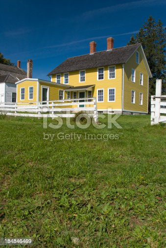 Colorful farmhouse in New England.
