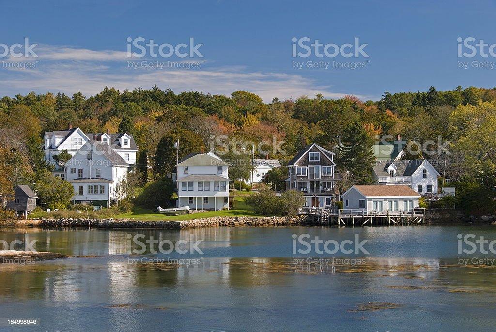 New England in Autumn stock photo