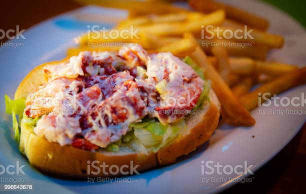 New England Lobster Roll with Fries