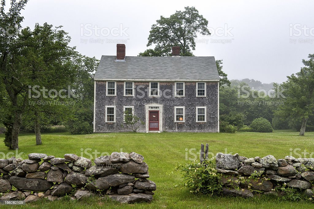 New England mansion at Martha's  Vineyard stock photo