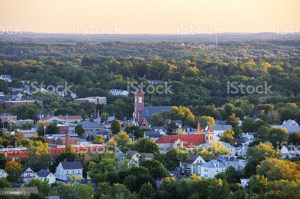 New England Small Town stock photo