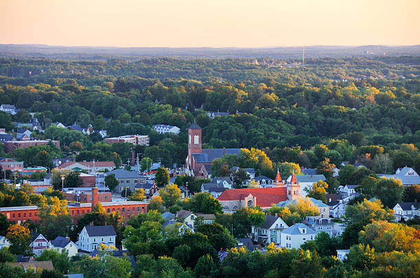 new england small town - mike cherim stock pictures, royalty-free photos & images