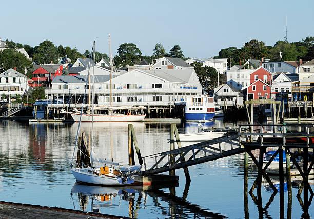 New England village stock photo