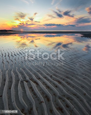 Beach cape cod Boston Hyannis ripples ocean bay sunset reflection contemplation awe mystery wonder