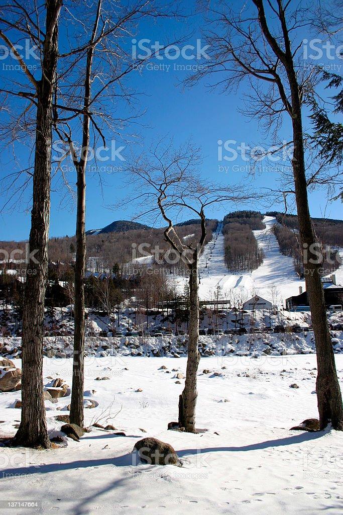 New England winter royalty-free stock photo