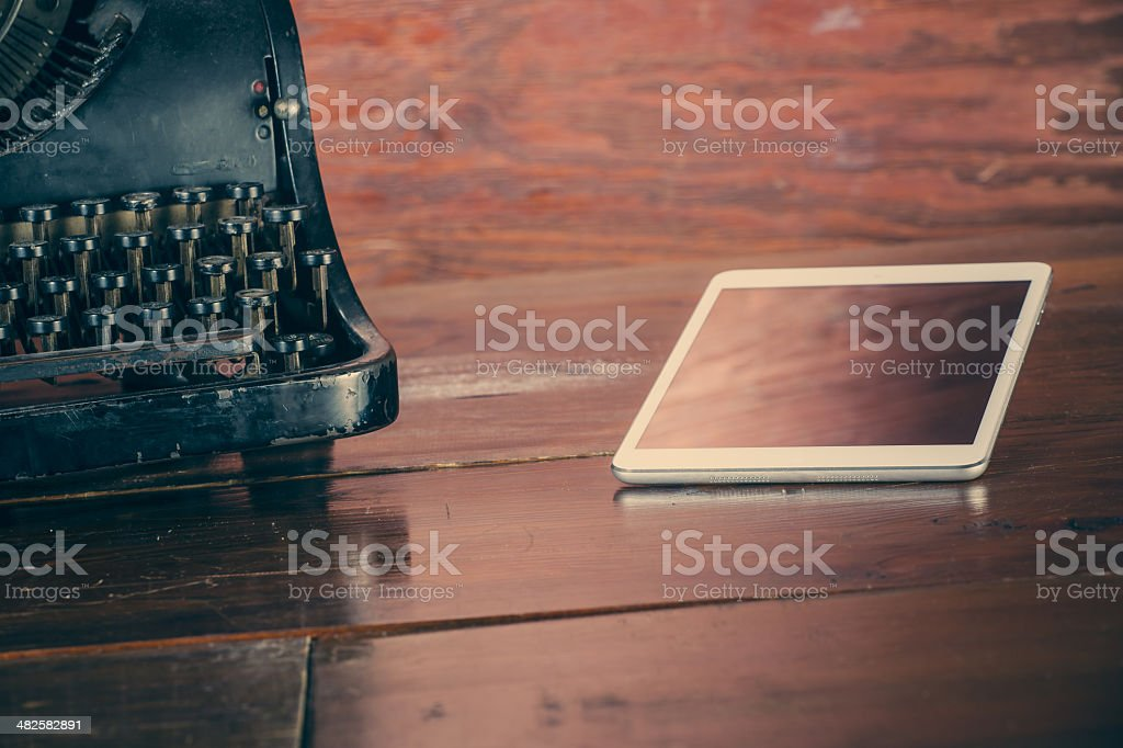 New era of typing royalty-free stock photo