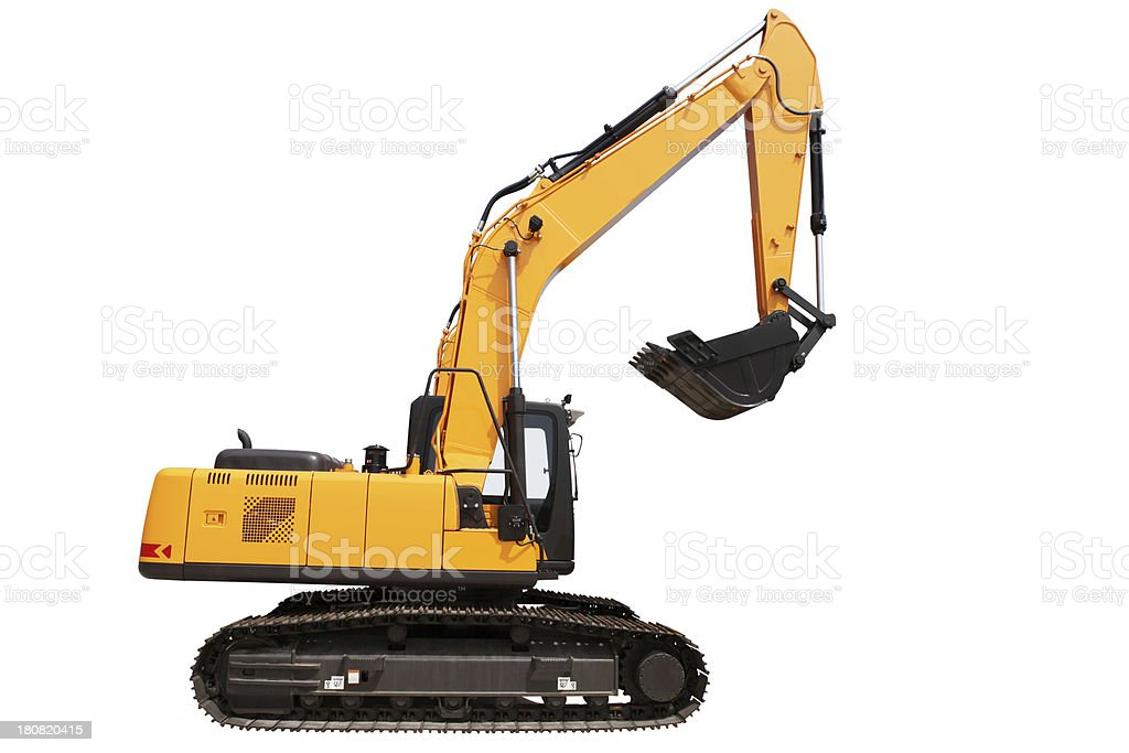 New Excavator on white background royalty-free stock photo