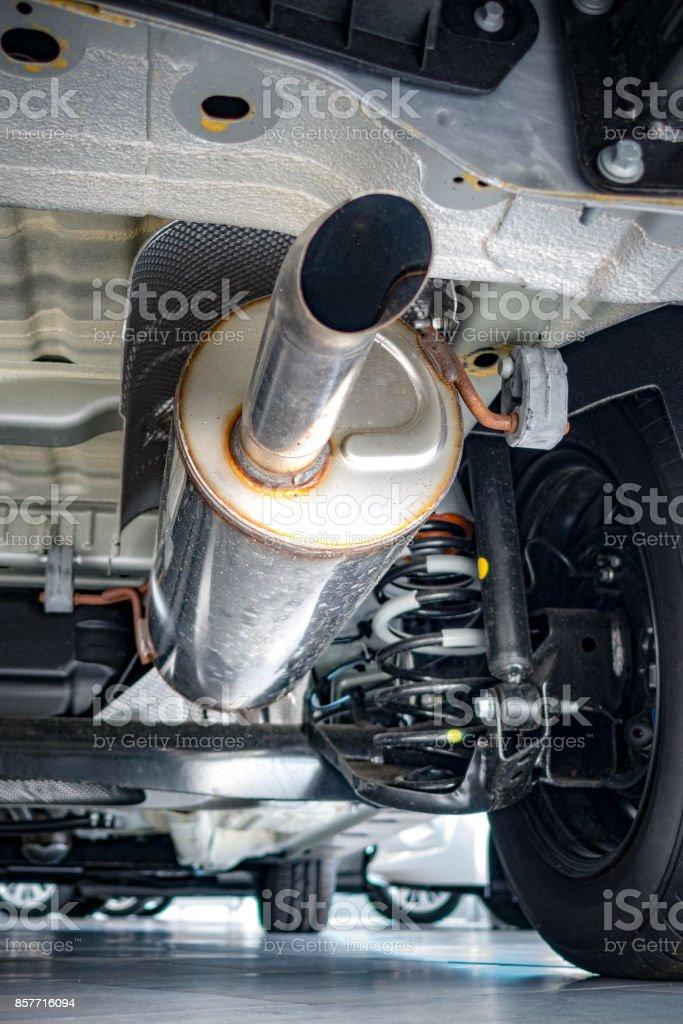New exhaust stock photo