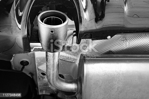 853517784 istock photo New exhaust under the car 1127348458