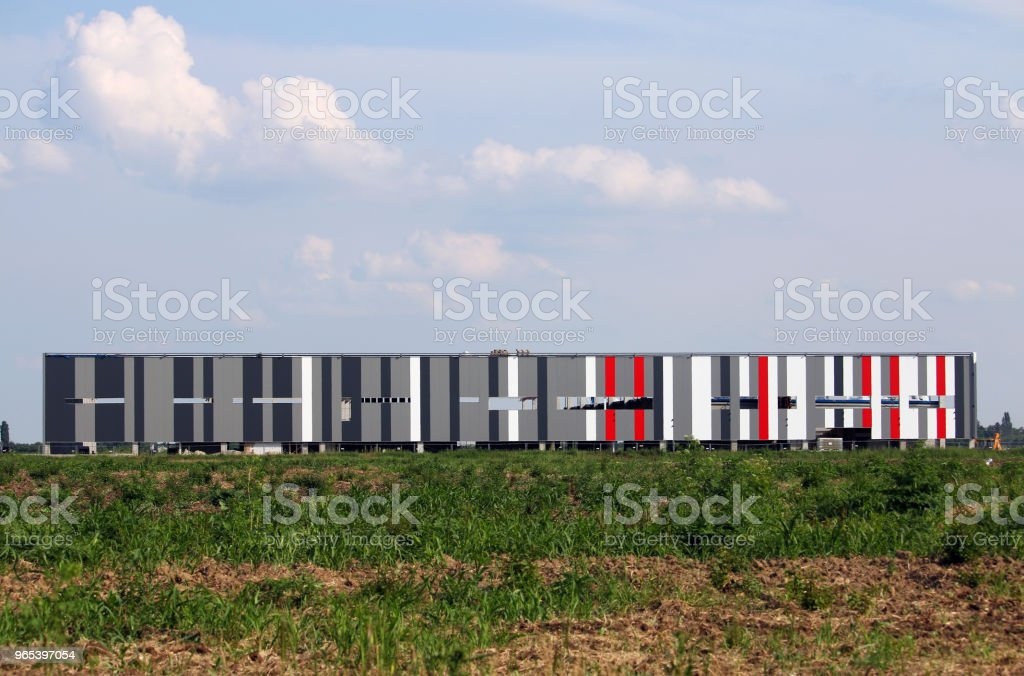 new factory colorful walls construction site royalty-free stock photo