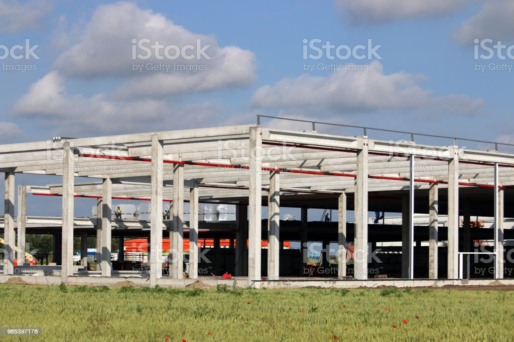 new factory construction site industry royalty-free stock photo