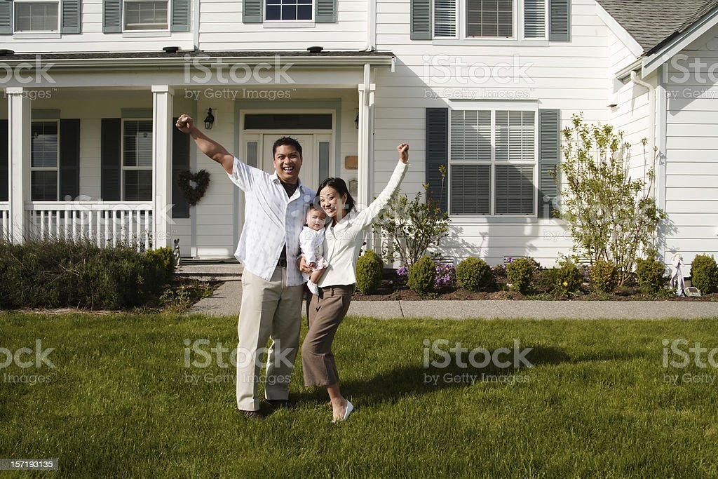 New Family and House royalty-free stock photo