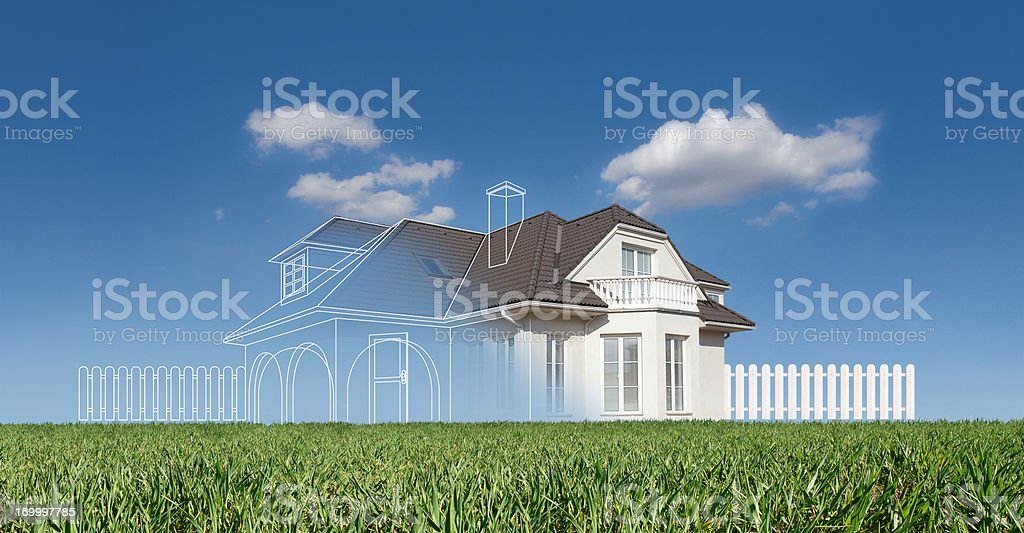 New family house project royalty-free stock photo