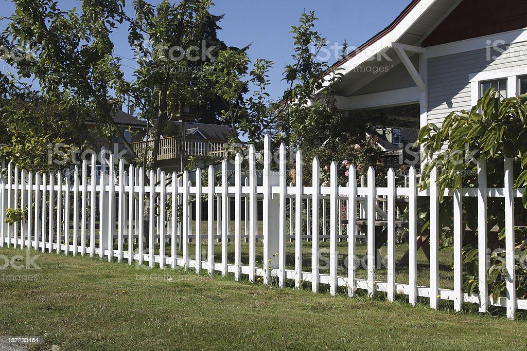 New Fence royalty-free stock photo