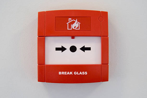 New Fire Alarm, Break Glass (with path) stock photo