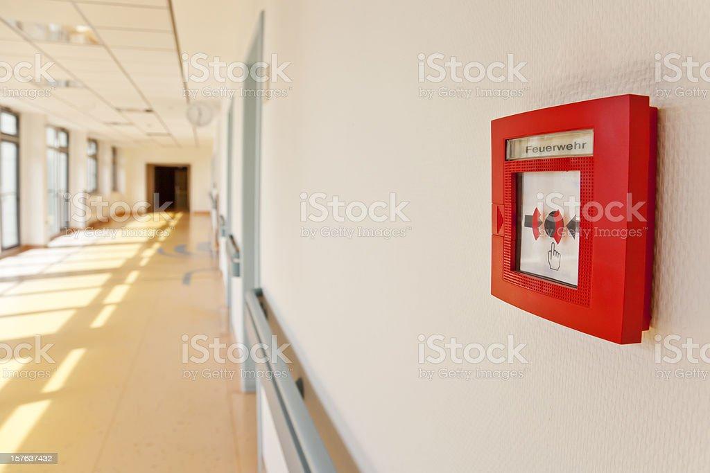 New Fire Alarm, Break Glass (with path) stock photo
