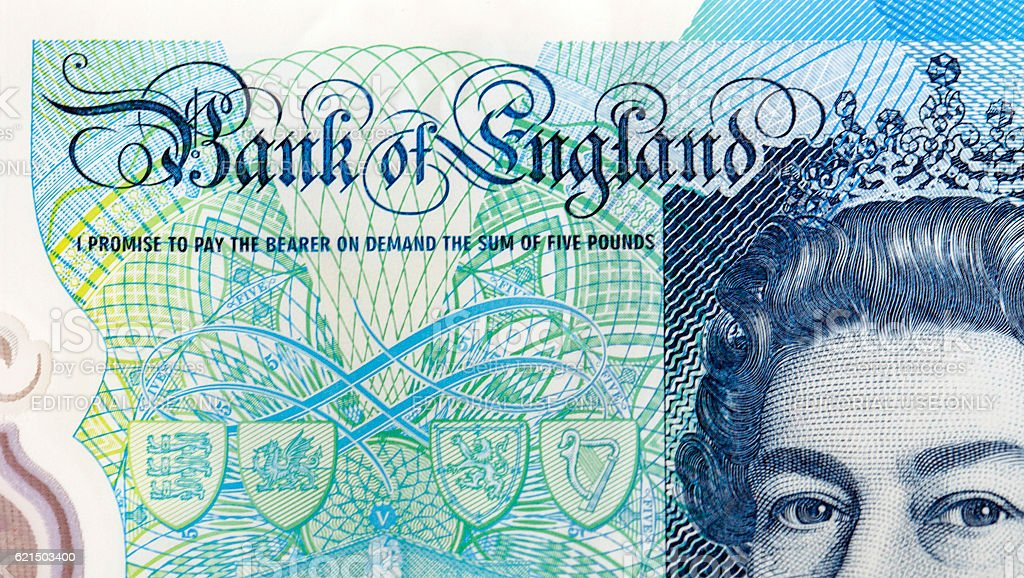 New Five Pound Note stock photo