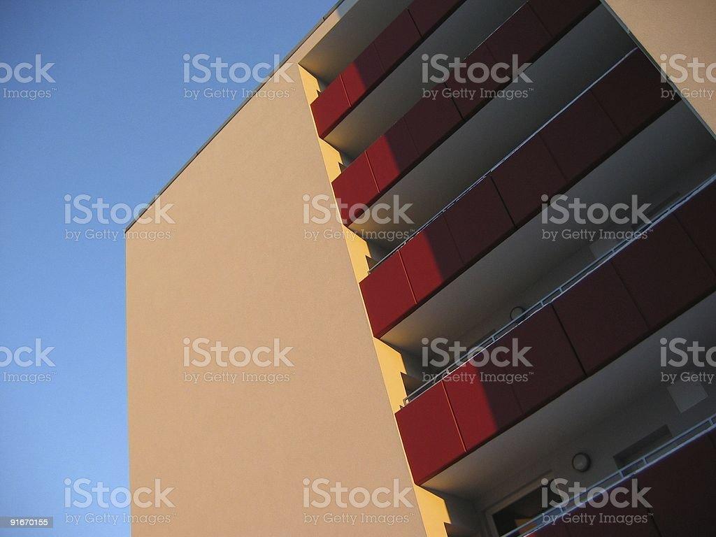 New flat building stock photo