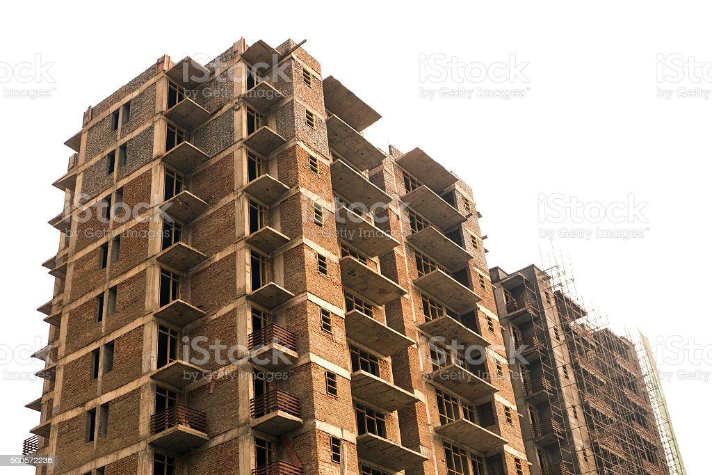 New Flat Construction North India stock photo
