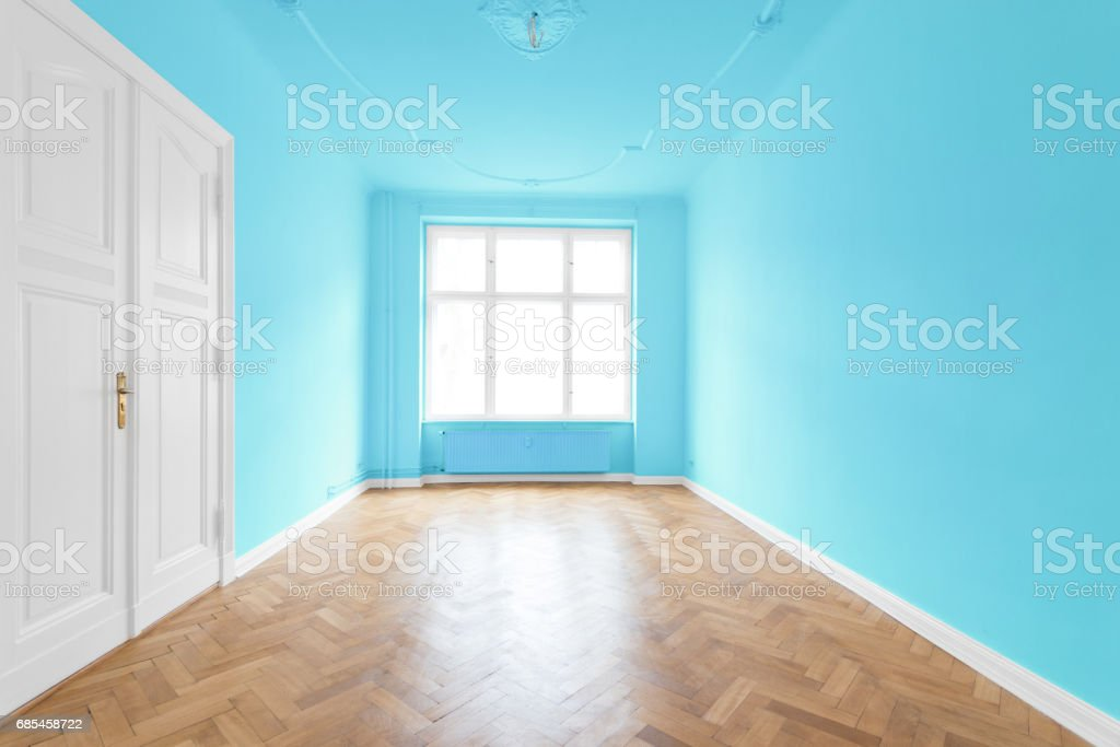 new flat in old building - empty room foto de stock royalty-free