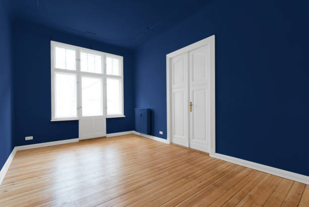 new flat in old building - renovated room stock photo