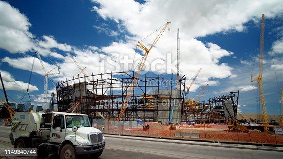 istock New football stadium under construction in Las Vegas 1149340744