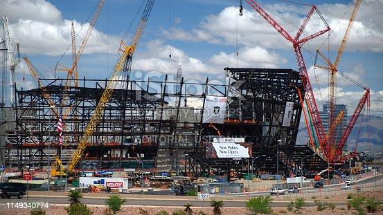 istock New football stadium under construction in Las Vegas 1149340774