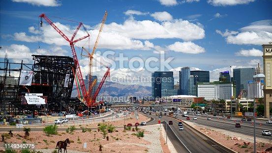 istock New football stadium under construction in Las Vegas 1149340775