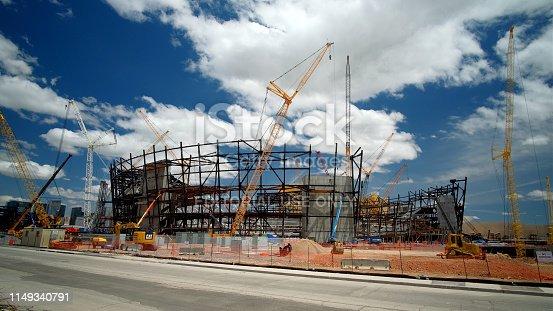 istock New football stadium under construction in Las Vegas 1149340791