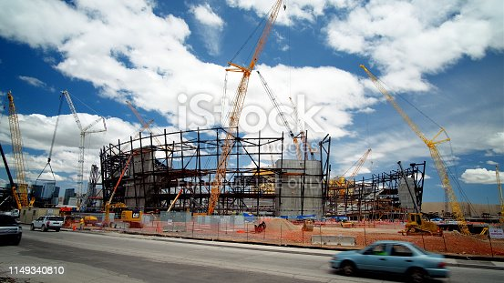 istock New football stadium under construction in Las Vegas 1149340810