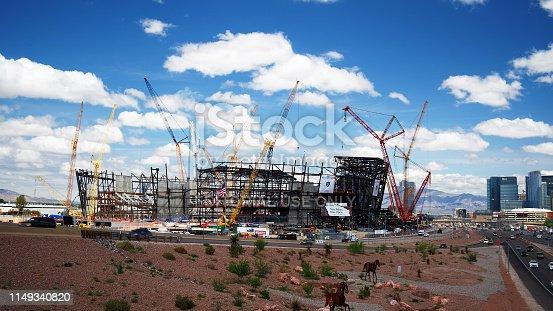 istock New football stadium under construction in Las Vegas 1149340820