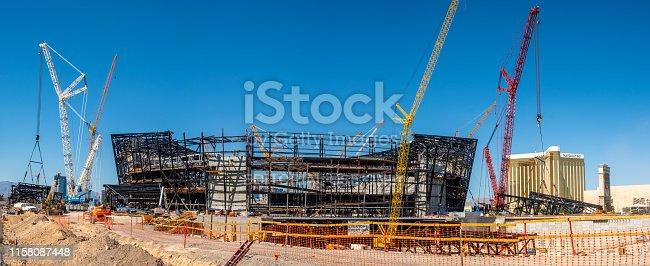 istock New football stadium under construction in Las Vegas 1158087448