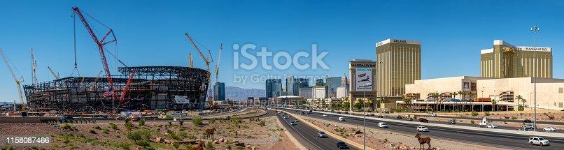 istock New football stadium under construction in Las Vegas 1158087466