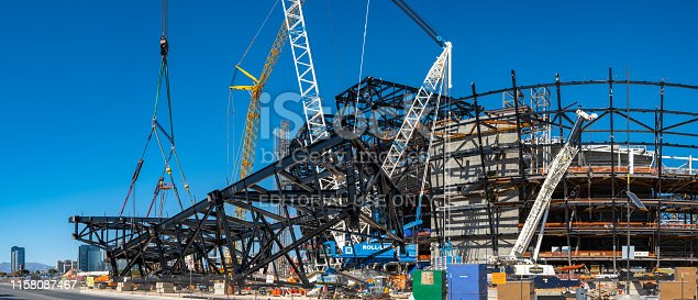 istock New football stadium under construction in Las Vegas 1158087467