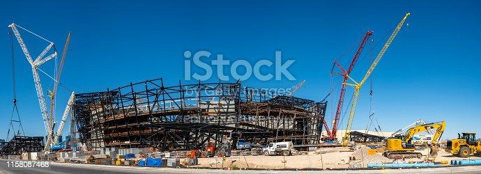 istock New football stadium under construction in Las Vegas 1158087468