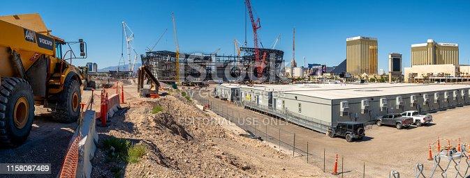 istock New football stadium under construction in Las Vegas 1158087469