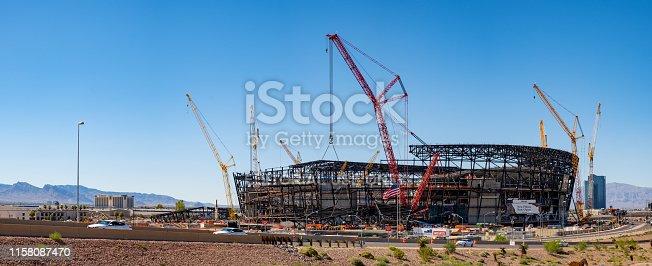 istock New football stadium under construction in Las Vegas 1158087470