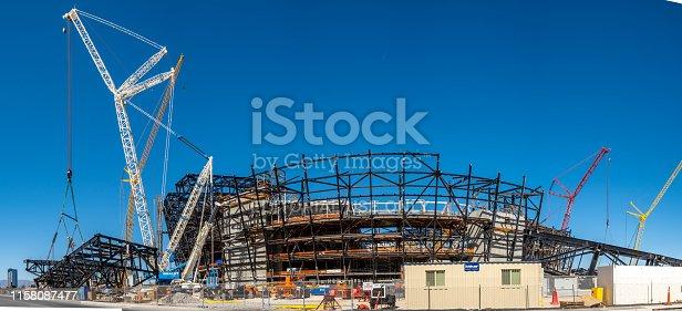istock New football stadium under construction in Las Vegas 1158087477