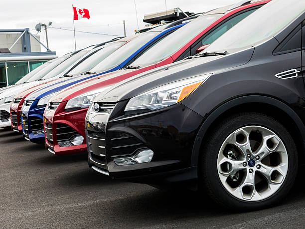 New Ford Escape Vehicles stock photo