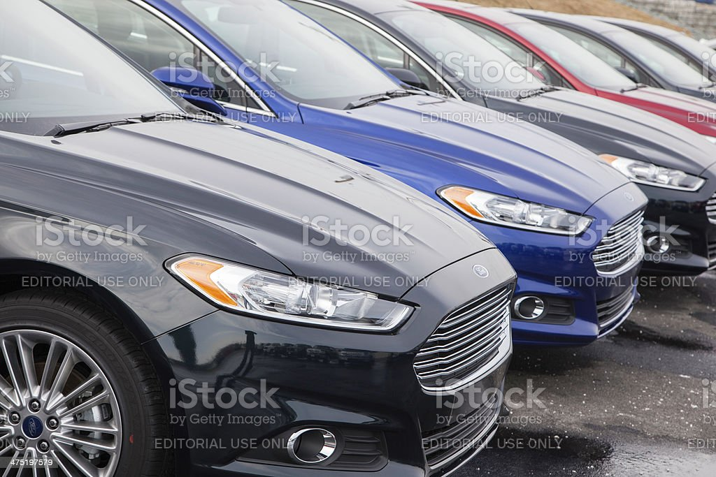 New Ford Fusion Vehicles stock photo