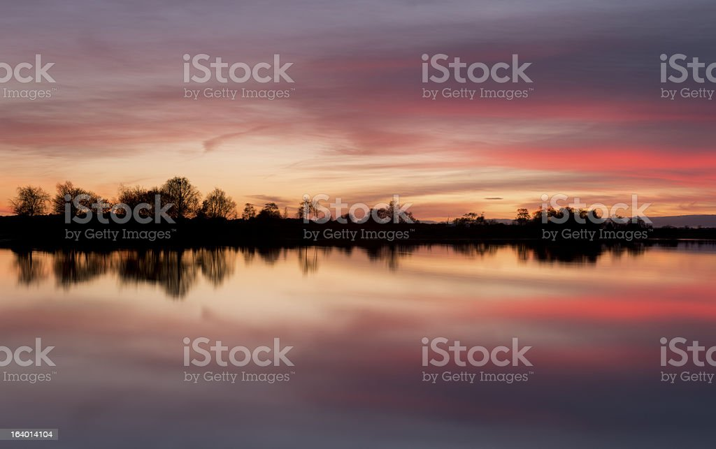 New Forest Sunset stock photo