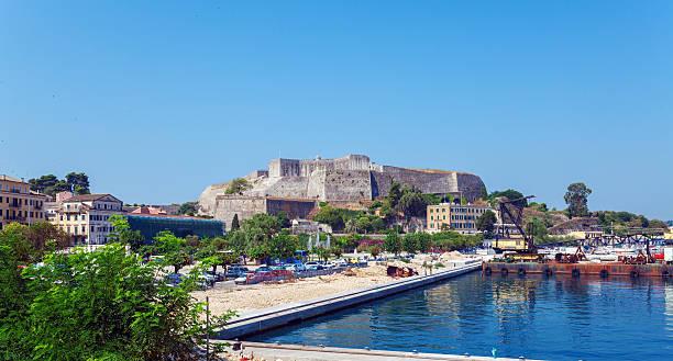 New Fortress in Kerkyra, Corfu island, Greece stock photo