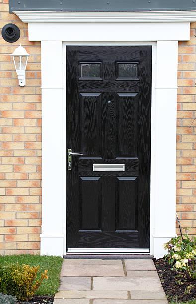 new front door stock photo