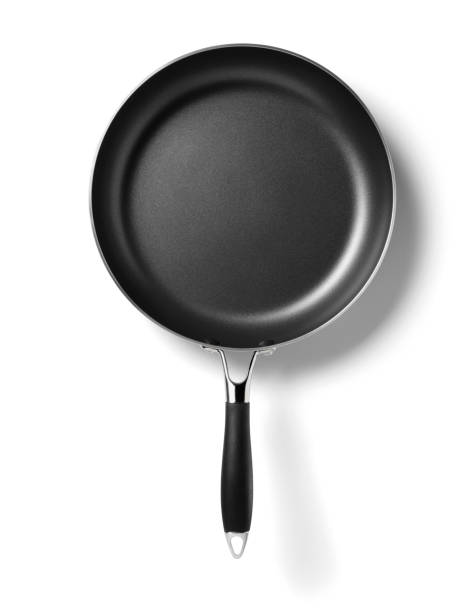 new frying pan - kookgerei stockfoto's en -beelden