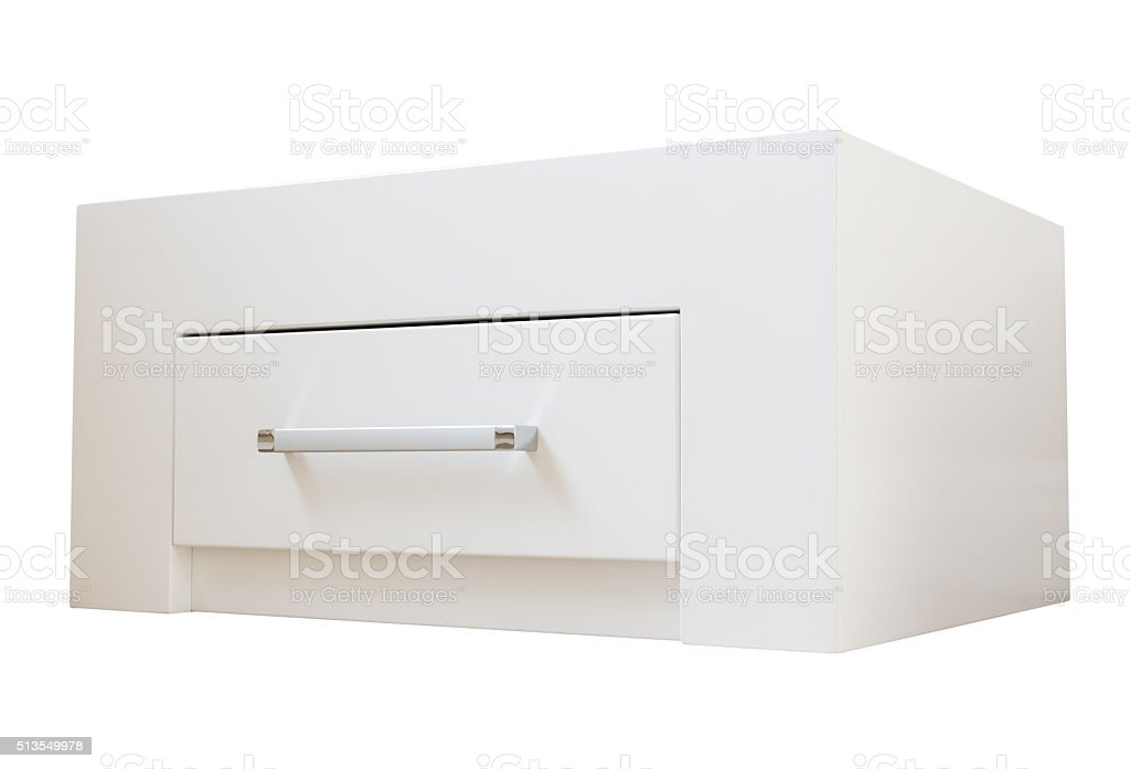 New furniture, cabinet with drawers stock photo