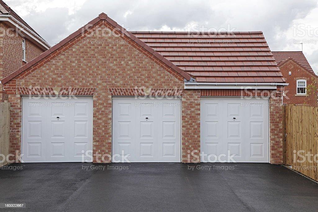new garages stock photo