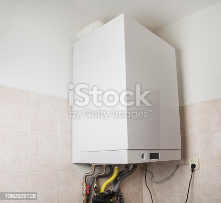 istock New gas condens boiler for heating and hot water 1082926128