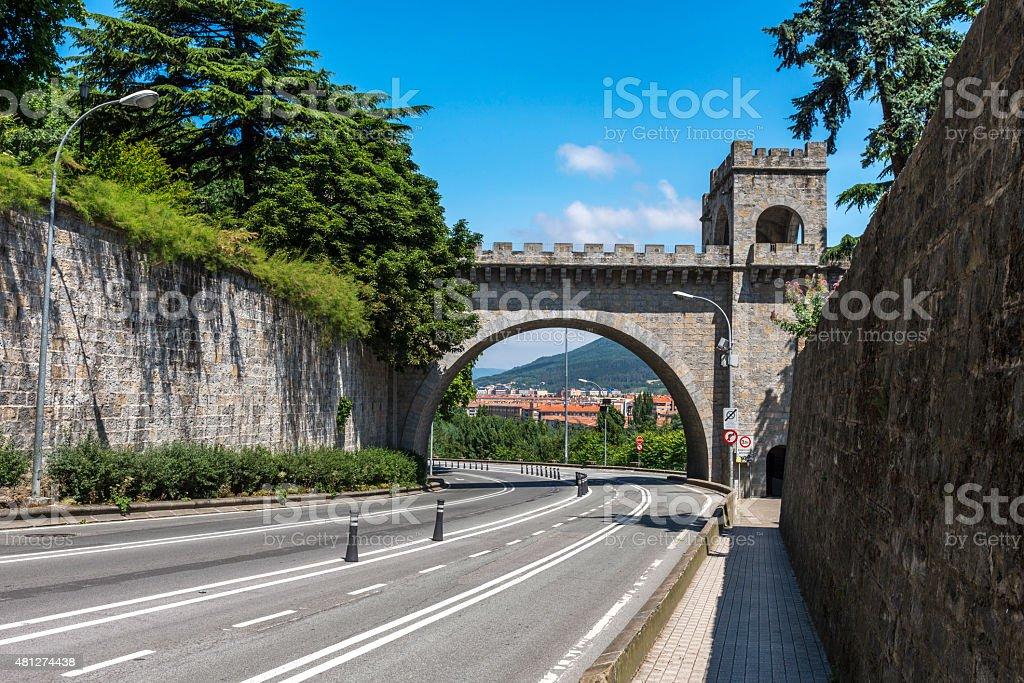 New Gate of Pamplona (Spain) stock photo